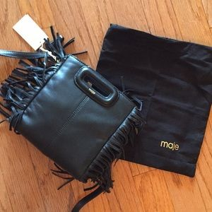 Maje mini M bag. Black